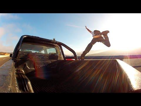 Sebastian Alvarez Base Jumps From The Moving Pickup Truck