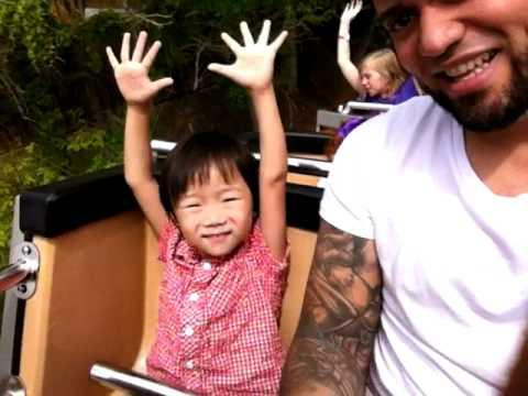 Cute - Kid Goes On His First Roller Coaster Ride