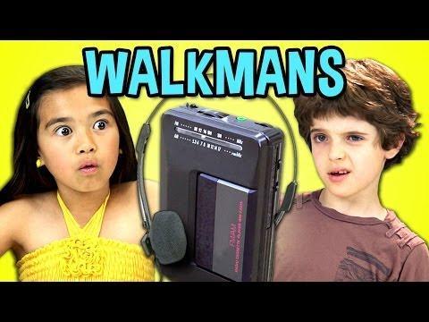 Funny Kids Reaction To Walkman