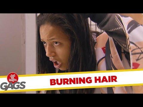Hairdresser Burns Her Customer's Hair Prank
