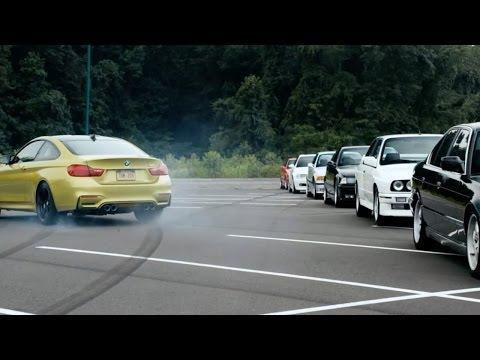 BMW M4's Epic Drifting Initiation