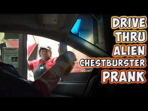 Funny Alien Scare Prank At The Drive-Thru