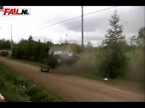 FAIL - Rally Car Race Accident