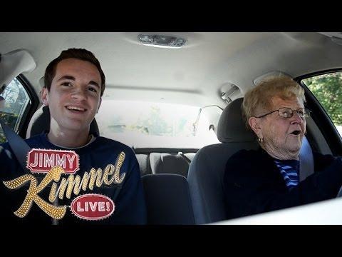 Kevin Droniak And His Grandma On Jimmy Kimmel Show