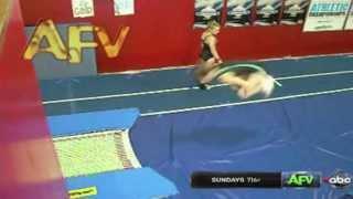 Gymnast's Backflip Faceplant FAIL