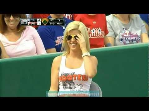 FAIL - Girl Interrupts The Baseball Game
