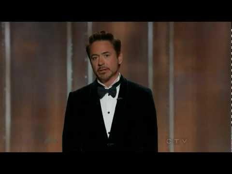 Robert Downey Jr At 2013 Golden Globes
