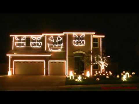 Awesome - This Is Halloween Dubstep House Light Show