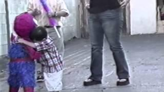Little Boy Doesn't Want To Hit Spiderman Pinata