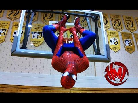 Spider-Man Shows Off His Dunking Skills