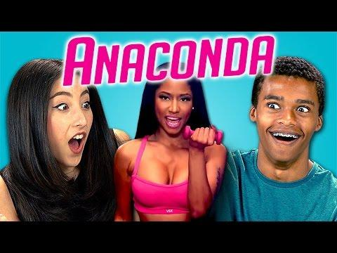 Funny Teens Reaction To Nicki Minaj's Anaconda Song