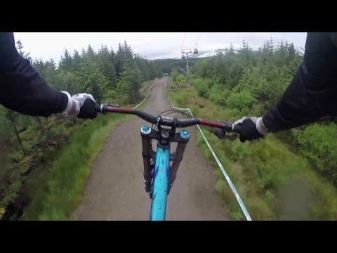 Claudio Caluori Has Fun Going Downhill On His Bike Through Scottish Highlands