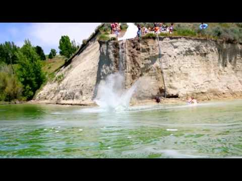 Awesome - Slip And Slide From A 35 Foot Cliff