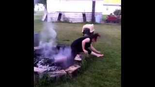 Jumping Over The Fire Pit FAIL