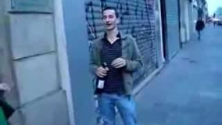 Drunk Guy Tries To Open The Wine Bottle