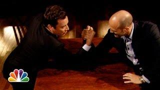 Arm Wrestling Match Between Jimmy Fallon And Jason Statham