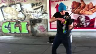 Funny Homeless Man And The Violinist