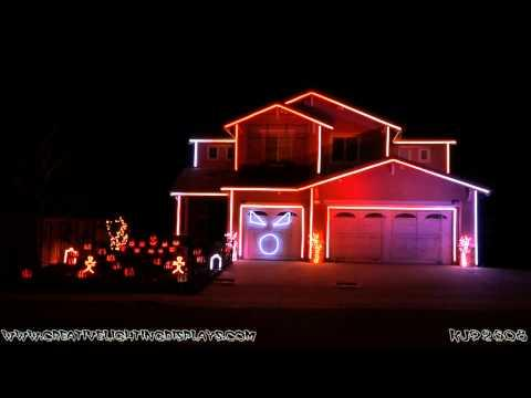 Halloween House Decoration Set To House Of Pitbull's Fireball