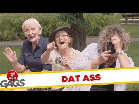 Old Ladies Take Pictures Of Men's Ass Prank