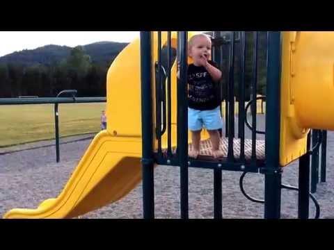 Kid Going Down The Fire Pole Fail