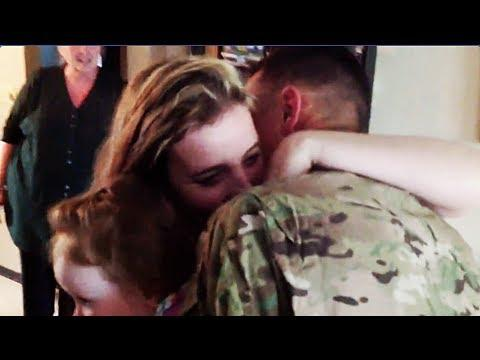 Cute - Soldier Surprises Wife