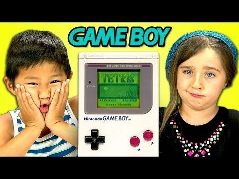Funny Kids Reaction To Game Boy Console