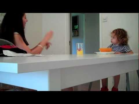 Cute - 2 Years Old Kid Having A Conversation