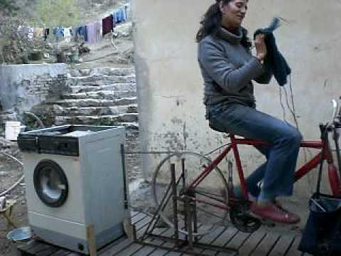 Awesome - Bicycle Powered Washing Machine