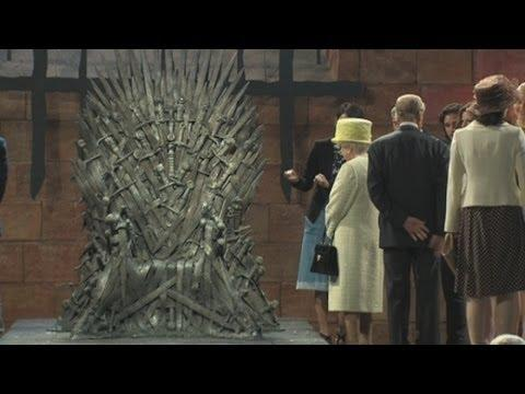 Queen Of England Visits The Game Of Thrones Set In Belfast