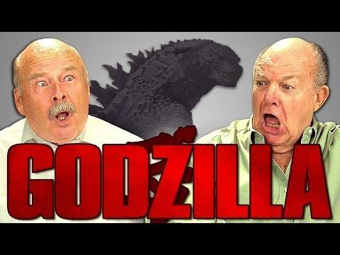 Funny Seniors Reaction Godzilla Movie Trailer