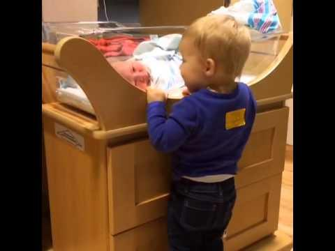 Cute Girl's Reaction To Meeting Her Baby Brother