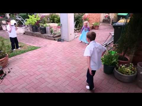 Soccer Ball Meets Kid's Face In Slow Motion