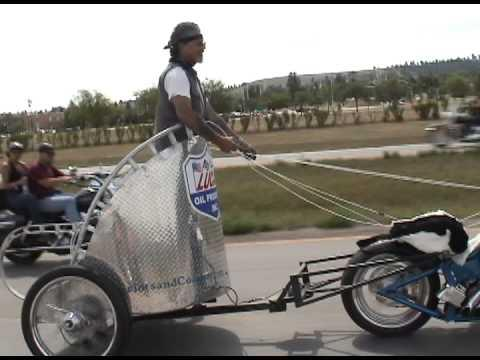 Guy Creates His Own Motorcycle Chariot