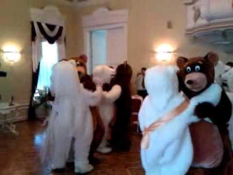 WTH - People Wear Bear Costumes To A Wedding