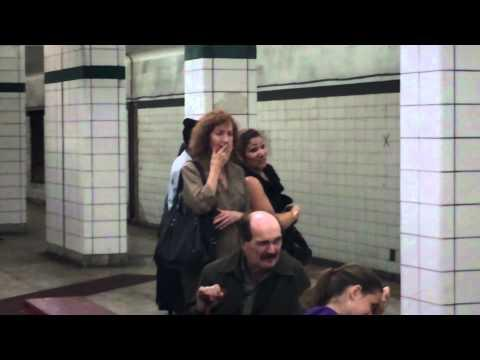Man Vacuums The Subway Floor And Eats From It