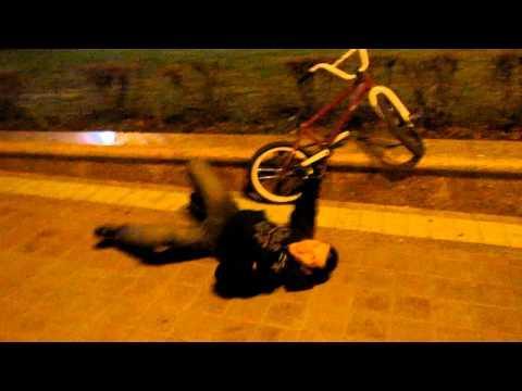FAIL - BMX Bike Slide Stunt FAIL
