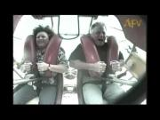 Guy Getting Really Scared On Slingshot Ride