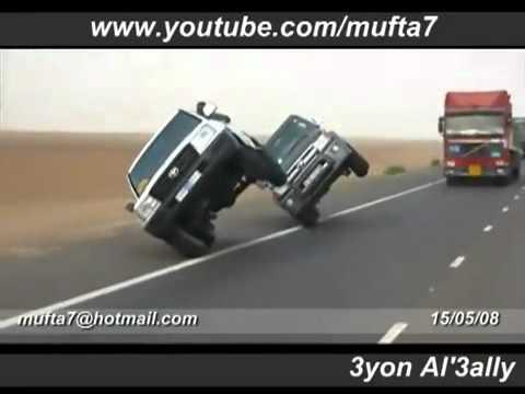 Crazy - Driving The Truck On Two Wheels
