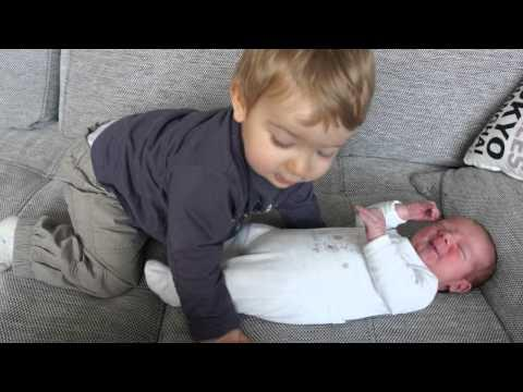 Cute - Big Brother Helps Baby Brother