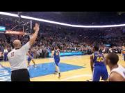 Winning Goal By Russell Westbrook During The Game Against Warriors