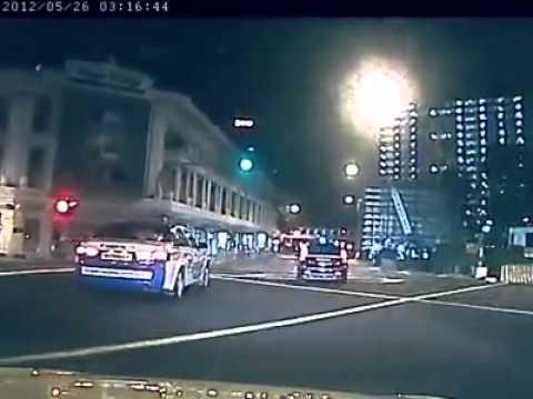 FAIL - Red Light Runner Slams Car