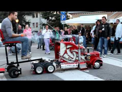 Geeky - Guy Builds A RC Truck That Can Pull Him