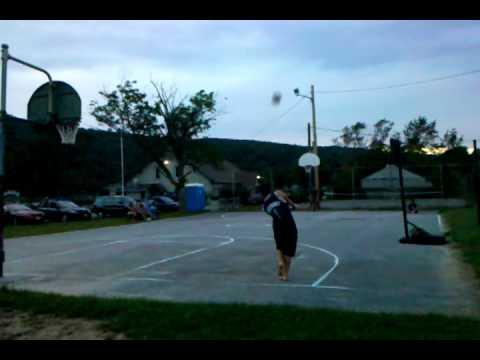 WIN - Basketball Shot Using A Baseball Bat