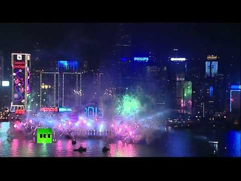 Cool - Hong Kong's New Years Eve Fireworks