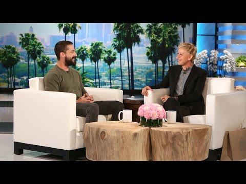 Shia LaBeouf Talks About His Life Missteps On Ellen