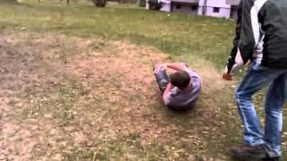 Front Flip Over The Seesaw FAIL