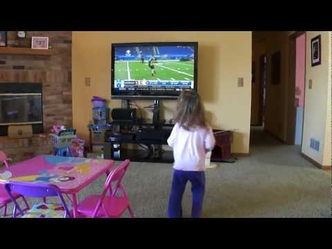 Cute - Little Girl Wants To Be A Football Player