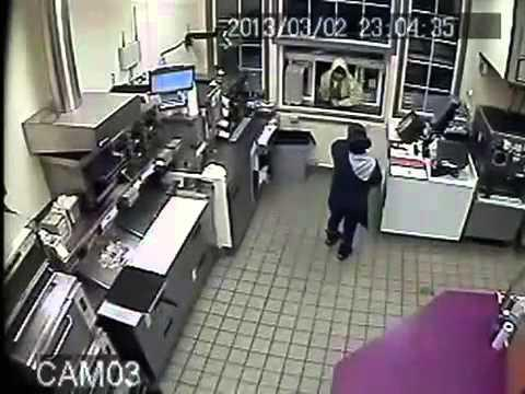 WIN - Employee Scares Away Robber Using Hot Coffee