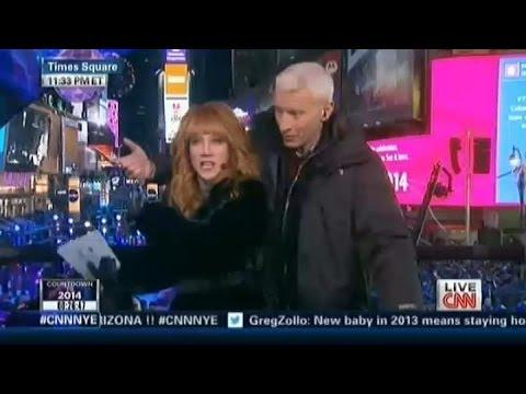 Kathy Griffin Handcuffs Herself To Anderson Cooper On New Year's Eve Live Show