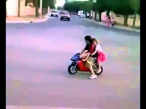 Cute - Kid Takes His Girlfriend For A Motorcycle Ride